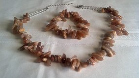 Brown Indian Agate Women's Necklace and Bracelet Set. in Ottumwa, Iowa