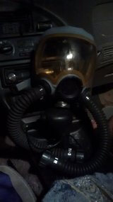 Gas mask in Alamogordo, New Mexico