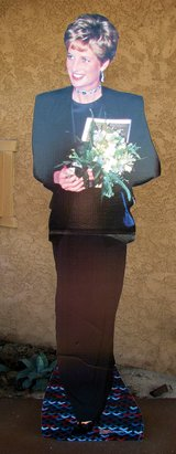 Princess Diana Stand up Cut out. in Yucca Valley, California
