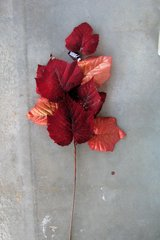 Fall/winter Deep Red with gliter floral folage stems, new, never used in 29 Palms, California