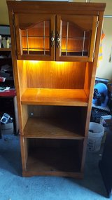 """Solid Wood Lighted Shelf 19"""" x 30"""" x 75"""" in Houston, Texas"""