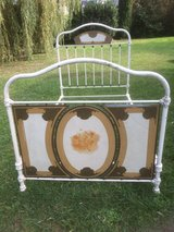 Antique shabby chic iron bed from France - Angels - in Ramstein, Germany