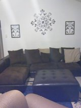 LARGE SECTIONAL SOFA WITH LARGE OTTOMAN in Kingwood, Texas