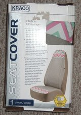 NEW In Box Kraco Car Seat Cover RETRO Chevron in Morris, Illinois