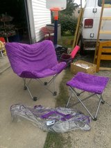 Folding chair & footstool with storage bage in Kankakee, Illinois