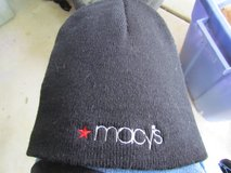 Men's Macys Black Beanie in Joliet, Illinois