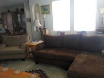 Sofa with chaise and matching chair in Luke AFB, Arizona