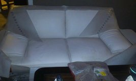 natuzzi blanco leather loveseat and couch in Nellis AFB, Nevada