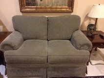 Beautiful sage couch / sofa / love seat / loveseat! Good condition! in Sugar Land, Texas