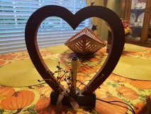 HEART SHAPED PRIMITIVE STYLE ELECT. CANDLE HOLDER in Beaufort, South Carolina