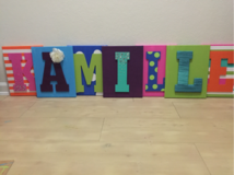 Personalized Letter Canvas in Hinesville, Georgia