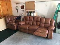 Leather recliner sofa and recliner chair in Fort Campbell, Kentucky
