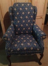 Queen Anne Wingback Chairs x 2 in Naperville, Illinois
