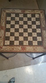 Checkers print mosaic side table in Orland Park, Illinois