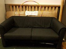 Black cloth fabric couch in Ramstein, Germany