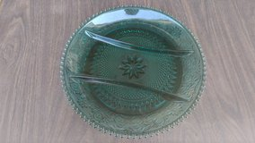 Depression glass relish tray - turquoise in Naperville, Illinois