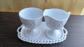 Vintage creamer and sugar set in Naperville, Illinois