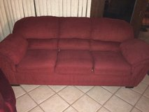 Red Couch in Belleville, Illinois