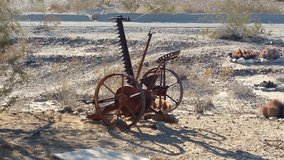 tractor drawn hay cutter in 29 Palms, California