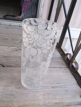 CLEAR FLORAL PATTERNED VASE in Alamogordo, New Mexico