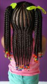 Kid braid with beads in Hinesville, Georgia