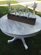 White washed oak table in Naperville, Illinois