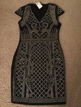 Brand New Beautiful Royal Black Silver Dress size S in Fort Carson, Colorado