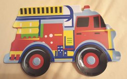 Toddler Plates - Firetruck (Set of 4) in Aurora, Illinois