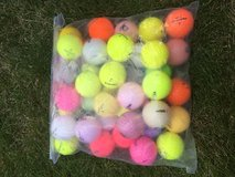 BAG OF COLORFUL USED GOLF BALLS in Lakenheath, UK
