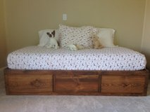 Solid wood twin storage bed base in Temecula, California