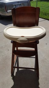 Wood high chair in Fort Riley, Kansas