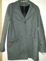 New w/tags Gray wool peat coat in Travis AFB, California