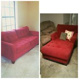 RED COUCH AND MATCHING CHAISE LOUNGE in Fort Polk, Louisiana