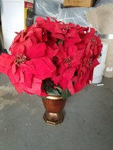 Holiday artificial poinsettia in Lockport, Illinois