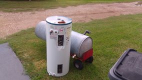 Free Old scrap water heater and water tank, smll grill in Kingwood, Texas