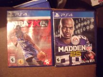 PS4 Madden 25 and PS4 NBA 2K in Perry, Georgia