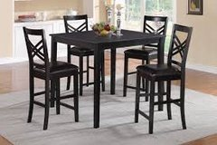Black Tall Dining Set with 4 chairs in Fort Irwin, California