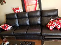 Leather couch in Lawton, Oklahoma