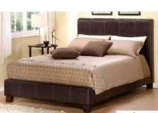 Queen brown bed set and mattress in Tinley Park, Illinois