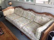 Wood frame floral sofa and Loveseat set in Tinley Park, Illinois