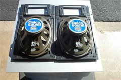 PAIR OF DELCO 10 OHM SPEAKERS AND GRILLS in Oswego, Illinois