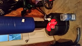 Boxing stand with 3 pairs of boxing gloves in Morris, Illinois