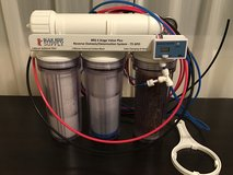 Water filtration system for saltwater aquariums in Okinawa, Japan