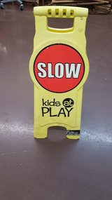 "Slow Kids at Play - Street Caution Sign - Free-Standing 26x10.5"" in Houston, Texas"