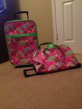 Justice Pink/Monkeys Luggage Set of 2 in Baytown, Texas