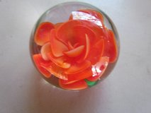 Peach Colored Rose Paperweight in Naperville, Illinois