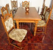 Oak Diningroom Set with Extendable Tableand 6 Chairs in Ramstein, Germany