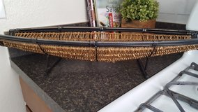 2 ft long metal and wicker basket in Fort Sam Houston, Texas