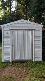 Shed-8x10, White Metal in Beaufort, South Carolina