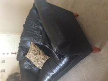 Black leather sofa in Fort Bliss, Texas